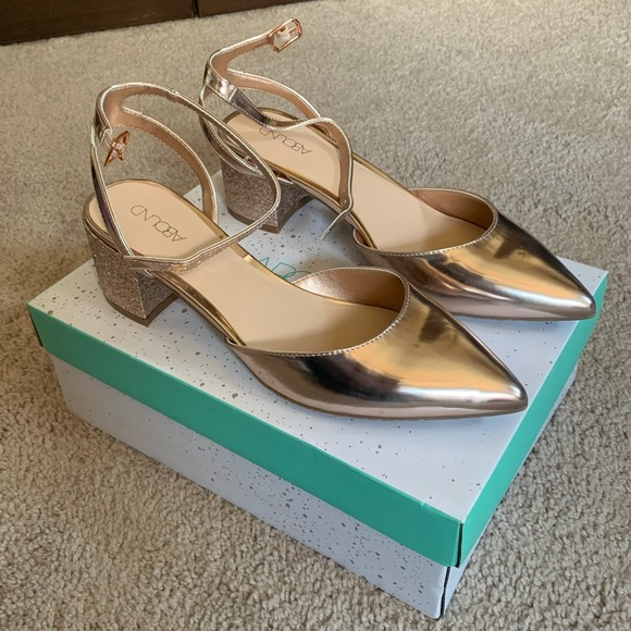 Abound Shoes - Rose Gold Block Heels